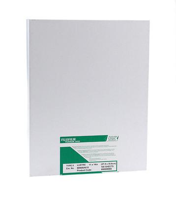 11 x 14, Glossy 100 Sheets Fujifilm/Fujicolor Crystal Archive Type II Paper