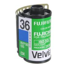 Fujifilm RVP Fujichrome Velvia 50 135-36 Professional Color Slide (Transparency) Film (ISO-50) - Single Roll