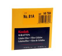 Kodak 4x4in (100mm) 81A Color Conversion Wratten Gel Filter