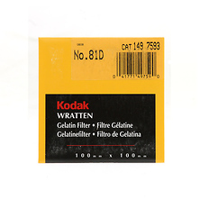 100mm 81D Color Compensating Wratten Gel Filter Image 0