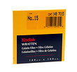 4x4 inch (100mm) #15 Deep Yellow Wratten Gel Filter for Black & White Film