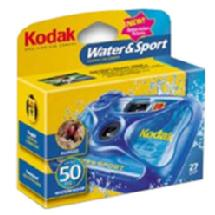 Kodak Water & Sport Waterproof (50'/15 m) 35mm One-Time-Use Disposable Camera, ISO-800 - 27 Exposures