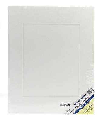 16 x 20 Single Rag White Mat Board Image 0