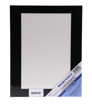 11 x 14 Black Mat Board with 8x12 Window Image 0
