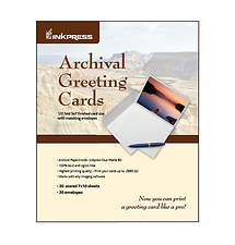 Inkpress Archival Greeting Cards Pack (20 5x7in. Cards & Envelopes)