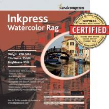 Inkpress Watercolor Rag Paper (8.5x11, 25 Sheet)