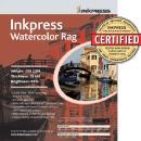 Inkpress | Watercolor Rag Paper (8.5x11, 25 Sheet) | LT851125