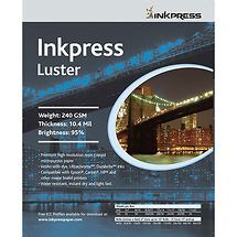 Inkpress Photo Chrome RC Luster Paper (4x6, 100 Sheets)