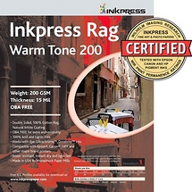 Inkpress Rag Warm Tone Picture Paper (5x7, 50 Sheets)
