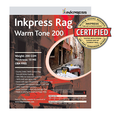 Picture Rag Warm Tone Paper 200 GSM 13x19in. - 25 Sheets Image 0