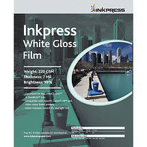 Inkpress White Gloss Film (8.5x11, 20 Sheets)