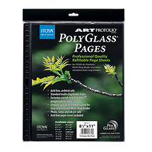 Itoya PolyGlass Pages Refill Sheets 8.5 x 11 in. 10 Pcs Per Pack
