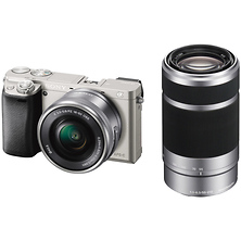 Alpha a6000 Mirrorless Digital Camera with 16-50mm & 55-210mm Lenses (Silver) Image 0