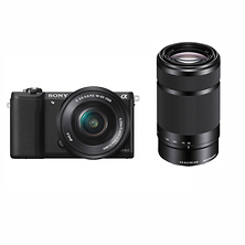 Alpha a5100 Mirrorless Digital Camera with 16-50mm & 55-210mm Lenses (Black) Image 0