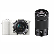 Alpha a5100 Mirrorless Digital Camera with 16-50mm & 55-210mm Lenses (White) Image 0