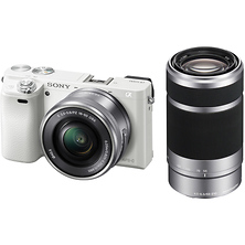 Alpha a6000 Mirrorless Digital Camera with 16-50mm & 55-210mm Lenses (White) Image 0