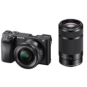 Alpha a6300 Mirrorless Digital Camera with 16-50mm and 55-210mm Lenses (Black)