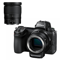 Nikon Z6 Mirrorless Digital Camera with 24-70mm Lens and FTZ Mount Adapter Image