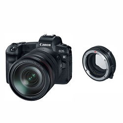 Canon EOS R Mirrorless Digital Camera with 24-105mm Lens and Mount Adapter EF-EOS R Image