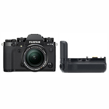 X-T3 Mirrorless Digital Camera with 18-55mm Lens (Black) with VG-XT3 Vertical Battery Grip Image 0