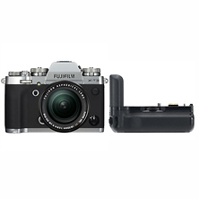 X-T3 Mirrorless Digital Camera with 18-55mm Lens (Silver) with VG-XT3 Vertical Battery Grip Image 0