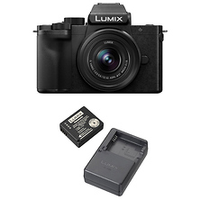 Lumix DC-G100 Mirrorless Micro Four Thirds Digital Camera with 12-32mm Lens (Black) and DMW-ZSTRV Battery & Charger Travel Pack Image 0
