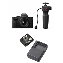 Lumix DC-G100 Mirrorless Micro Four Thirds Digital Camera with 12-32mm Lens, Tripod Grip Kit (Black) and DMW-ZSTRV Battery & Charger Travel Pack Image 0