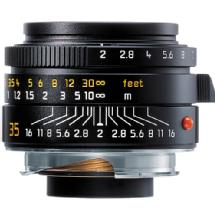 Leica 35mm f/2.0 Summicron M Aspherical Manual Focus Lens (Black)