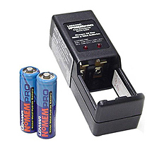 Lenmar PRO25 Charger with 2 AA Rechargeable Batteries