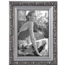 Malden Bezel 4x6 Ornamental Wood Frame - Silver