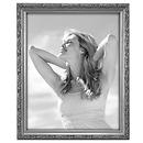 8x10in. Bezel Ornamental Wood Frame - Silver