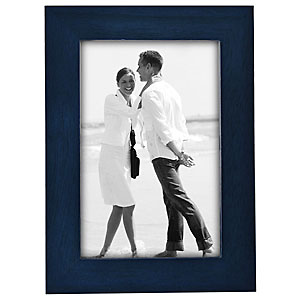 5 x 7 Wood Photo Frame - Blue Image 0