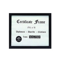 Malden Home Profiles Black and Silver Document Frame, 8.5 x 11