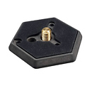 030-38 Hexagonal Quick Release Plate with 3/8in. Screw