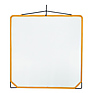 Solid Frame Scrim White Artificial Silk (48x48 In.)