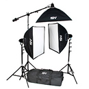 K-71 2600 watt Continuous Quartz Light Softbox Kit