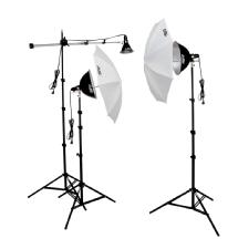 Smith Victor KT900 3 Light 1250-Watt Thrifty Mini-Boom Kit