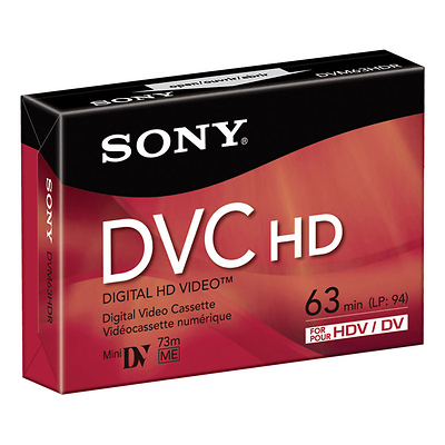 DVM-63HD 63 Minute Mini DV HD Tape (3 Pack) Image 0
