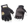 SetWear | Genuine Leather 3/4 Fingerless Gloves, Medium | SWF05009
