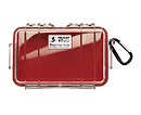 Pelican | 1040 Micro Hard Case (Clear Red) | PC1040CR
