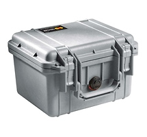 Pelican 1300 Mini-D Watertight Hard Case - Silver