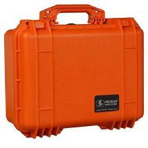 Pelican 1450 Medium Watertight Hard Case with Pick-N-Pluck Foam (Orange)
