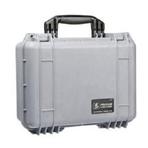 Pelican 1450 Medium Watertight Hard Case with Padded Dividers (Silver)