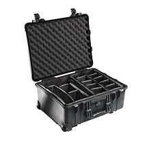 Pelican 1564 Watertight 1560 Hard Case with Dividers (Black)