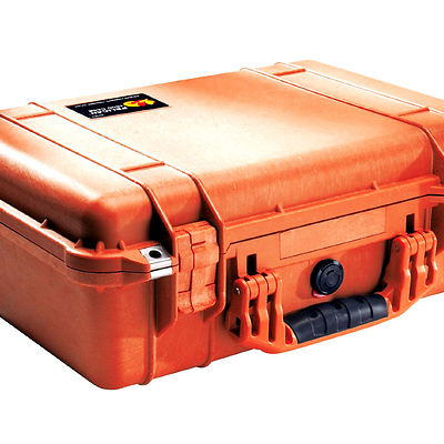 1500 Watertight Hard Case with Foam Insert - Orange Image 0