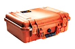 1500 Watertight Hard Case with Foam Insert - Orange