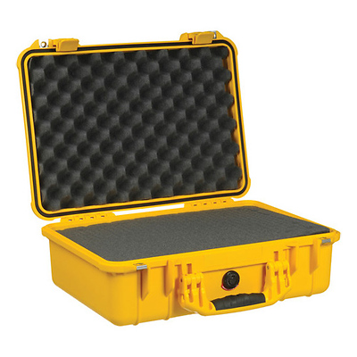 1500 Watertight Hard Case with Foam insert - Yellow Image 0