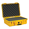 1500 Watertight Hard Case with Foam insert - Yellow