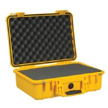 Pelican 1500 Watertight Hard Case with Foam insert - Yellow