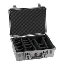Pelican 1520 Case with Padded Dividers (Silver)